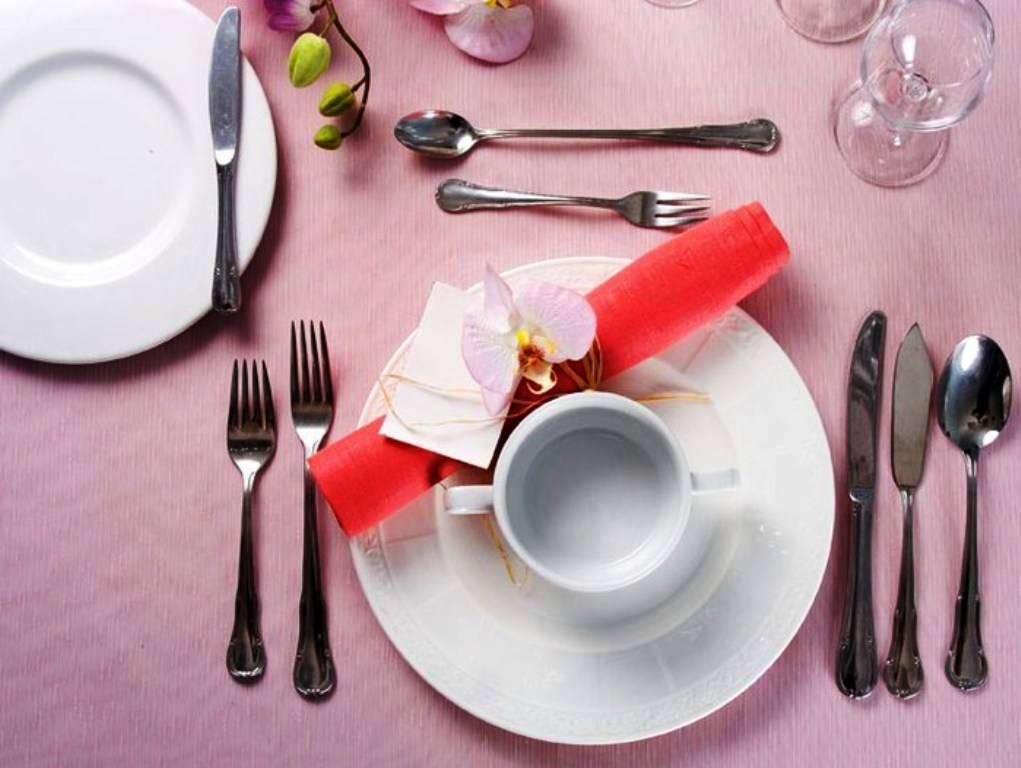 Сервировка стола фото вилки